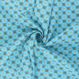 Tissu viscose Thalie - bleu turquoise x 10cm