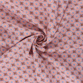 Tissu viscose Thalie - corail x 10cm