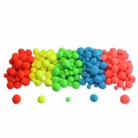 200 pompoms set - Neon