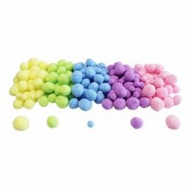 Set de 200 pompons ronds - Pastel