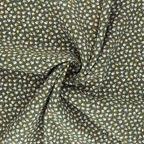 Tissu viscose Claudia - vert kaki x 10cm
