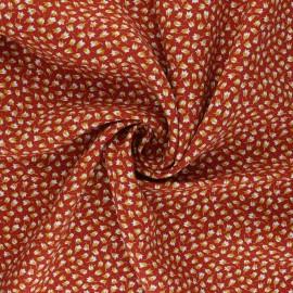 Tissu viscose Claudia - rouille x 10cm