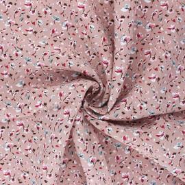 Tissu viscose Greta - vieux rose x 10cm