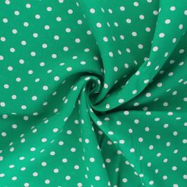 Tissu viscose Lola - vert x 10cm