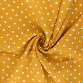 Tissu viscose Lola - jaune moutarde x 10cm
