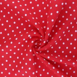 Tissu viscose Lola - rouge x 10cm