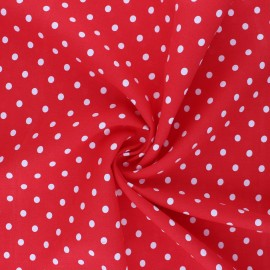 Viscose Fabric - red Lola x 10cm
