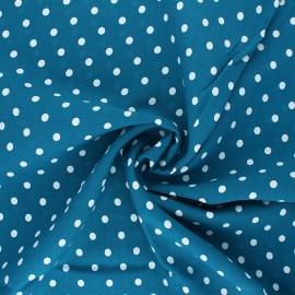 Tissu viscose Lola - bleu canard x 10cm