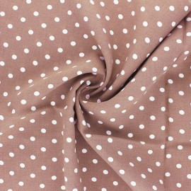 Tissu viscose Lola - taupe rosé x 10cm