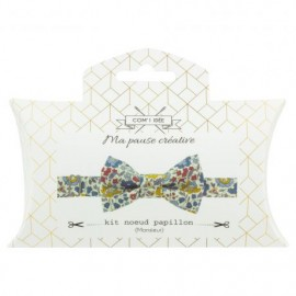 Liberty Bow Tie Sewing Kit - Blue d'Anjo