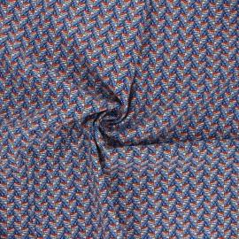 Tissu viscose Eko - bleu x 10cm