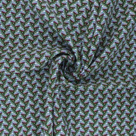 Viscose Fabric - green Eko x 10cm