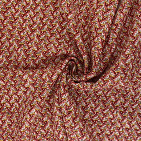 Viscose Fabric - red Eko x 10cm