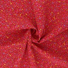 Tissu viscose Anna - rouge x 10cm