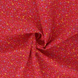 Viscose Fabric - red Anna x 10cm