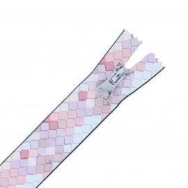 20 cm Closed Bottom Waterproof Zipper - white Sweet Pastel