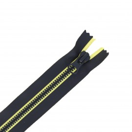 20 cm Closed Bottom metal Zipper - black Xela
