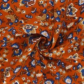 Tissu viscose Boho - rouille x 10cm