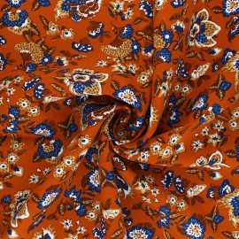 Viscose Fabric - rust Boho x 10cm