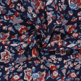 Tissu viscose Boho - bleu marine x 10cm