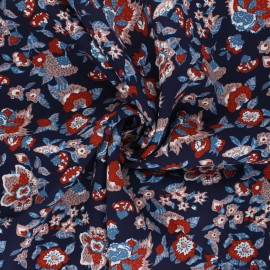 Viscose Fabric - navy blue Boho x 10cm