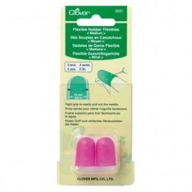 Flexible Rubber Thimbles - Size M - Clover
