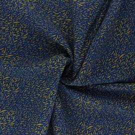 Tissu viscose Savane - bleu marine x 10cm