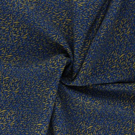 Viscose Fabric - navy blue Savane x 10cm