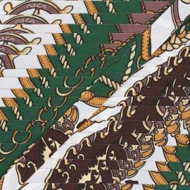Woven Ribbon - pine green Guitel x 1m