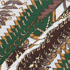 Ruban fantaisie Guitel - vert sapin x 1m
