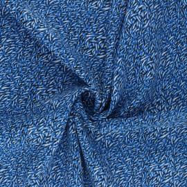 Tissu viscose Savane - bleu x 10cm