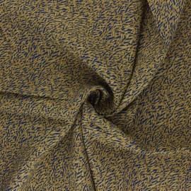 Tissu viscose Savane - ocre x 10cm