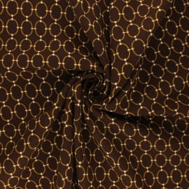 Viscose Fabric - brown/golden Ines x 10cm