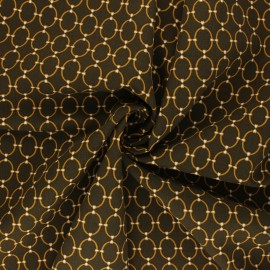 Viscose Fabric - khaki/golden Ines x 10cm