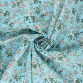Tissu viscose Anais - bleu x 10cm