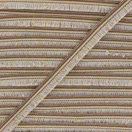 15mm Fringe trimming ribbon - natural/gold Voga x1m