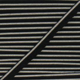Ruban galon franges 15 mm Shela - noir/doré x 1m