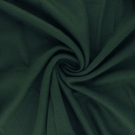 Ribbed Knitted fabric - pine green Ottoman x 10 cm
