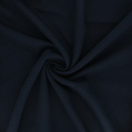 Ribbed Knitted fabric - Navy Blue Ottoman x 10 cm