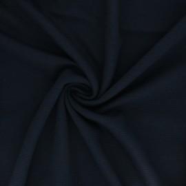 Tissu Mind the Maker Maille Côtelée Ottoman - Bleu Marine x 10 cm