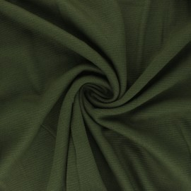 Ribbed Knitted fabric - Khaki Green Ottoman x 10 cm