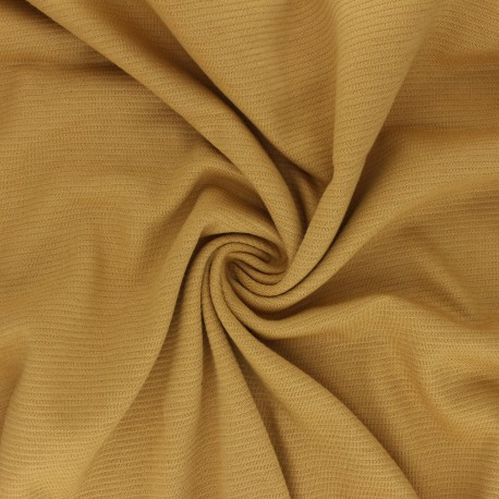 Ribbed Knitted fabric - Mustard Yellow Ottoman x 10 cm