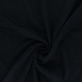 Ribbed Knitted fabric - Black Ottoman x 10 cm