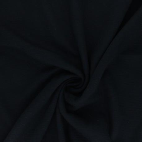 Tissu Mind the Maker Maille Côtelée Ottoman - Noir x 10 cm