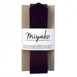 Anse en cuir Miyako - Prune
