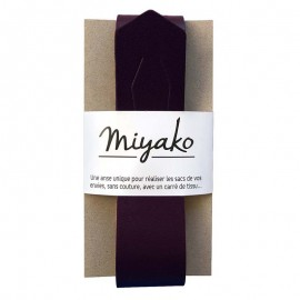 Miyako leather handle - plum