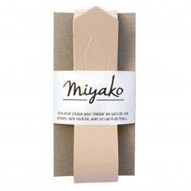 Miyako leather handle - nude