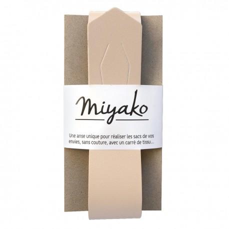 Miyako leather handle - nude