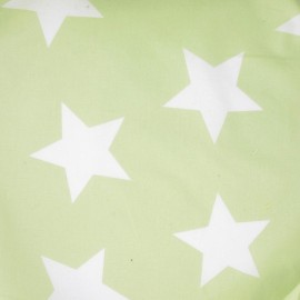 ♥ Coupon 30 cm X 140 cm ♥  Stars Fabric - Pistachio
