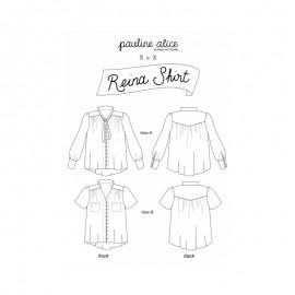 Shirt Sewing Pattern - Pauline Alice Reina Shirt